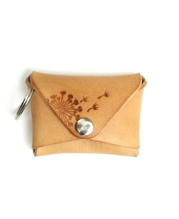 Schlüsselanhänger für Münzen Pusteblume