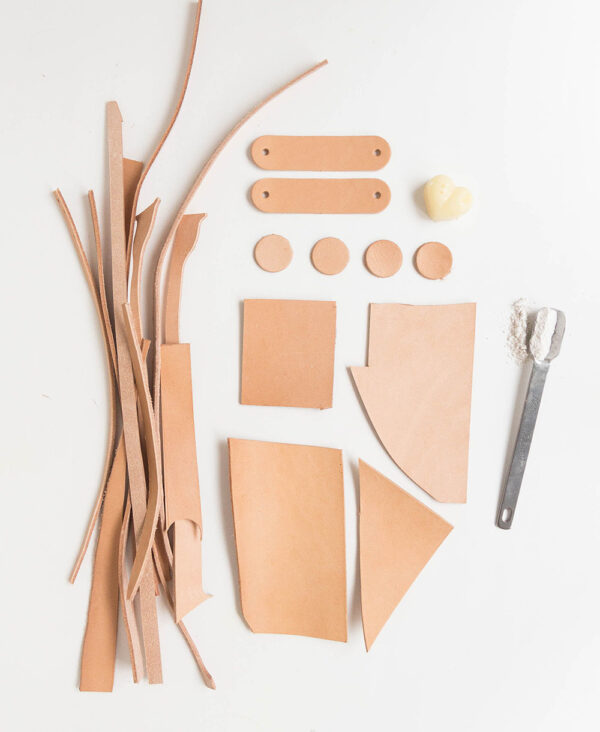 DIY Bastelset aus Bioleder Naturleder | DIY Set of natural vegetable tanned organic leather
