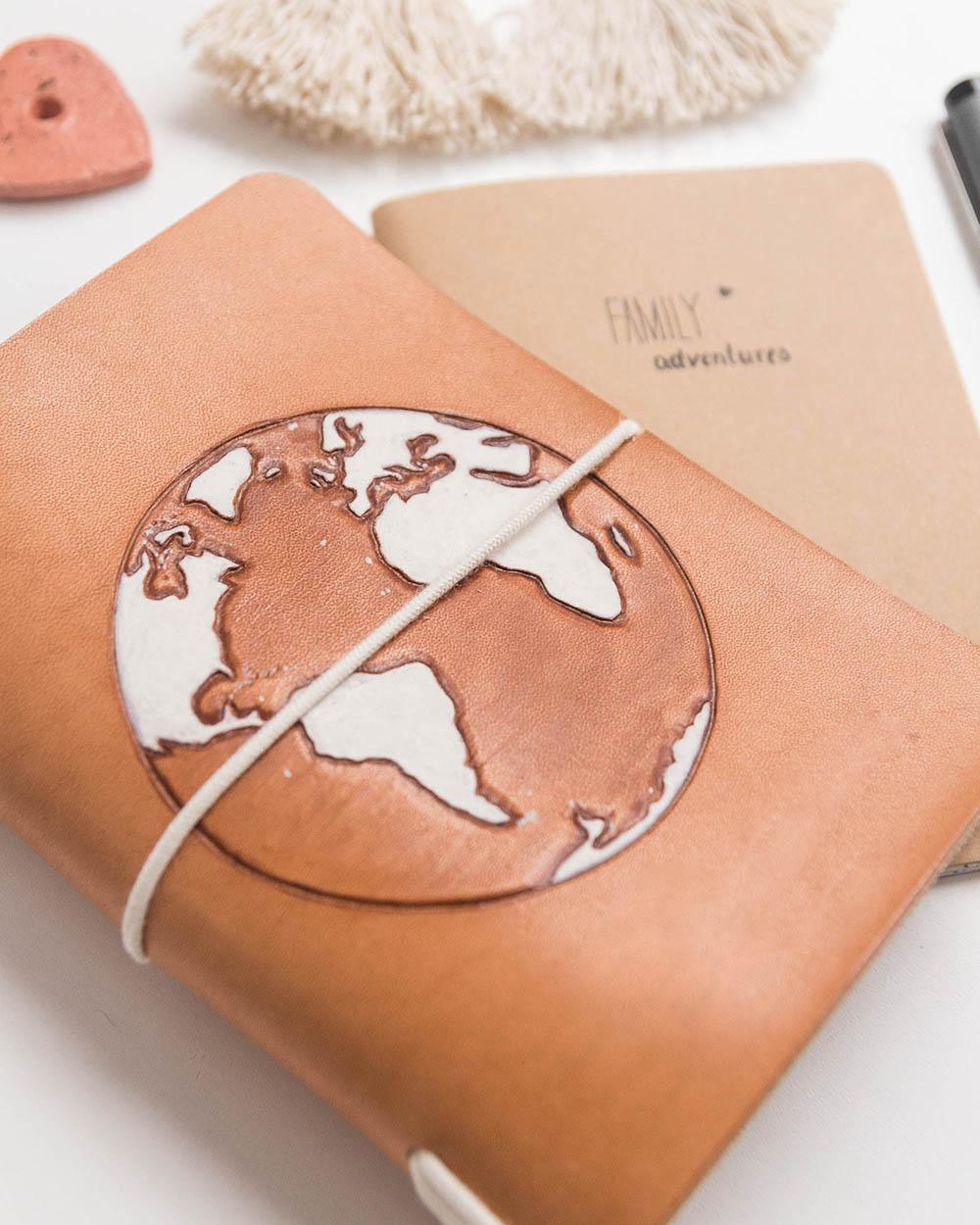 Reisepasshülle kleine Weltkugel