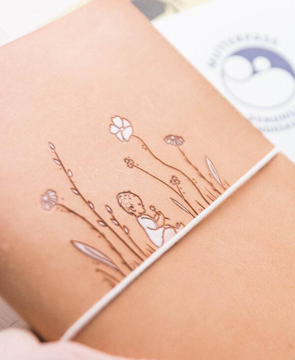 Mutterpass und U-Heft Hülle Blumenliebe
