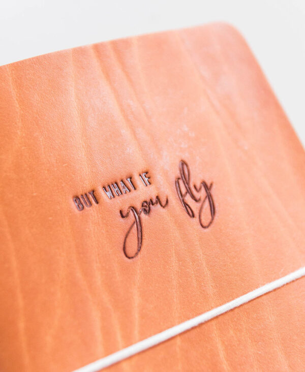Handlettering 'What if you fly'
